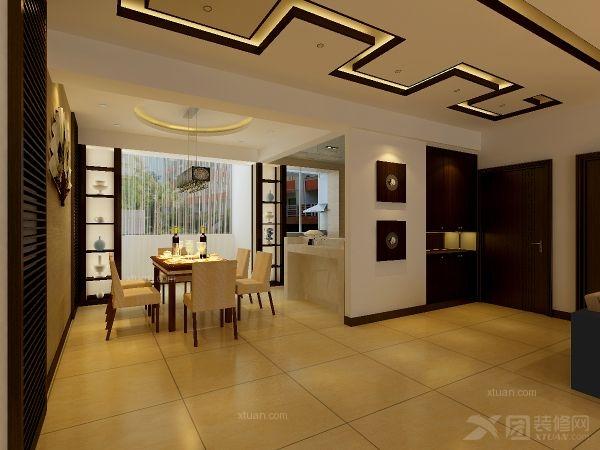 四居室中式风格_远洋万和城新中式设计案例装修效果图图片