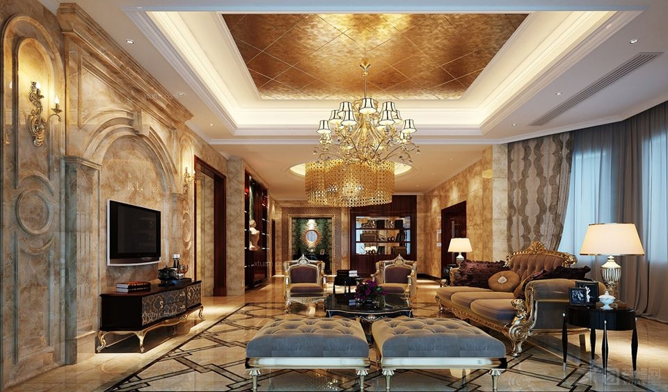 别墅欧式风格_林下周宅大堂设计图图片