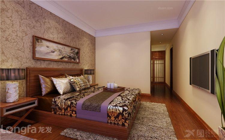 大户型中式风格卧室_秀湖苑200平米中式