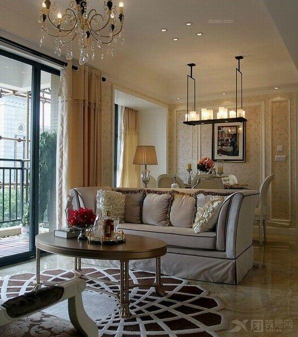 复式楼古典风格_现代古典(法式浪漫)风格样板房装修图图片