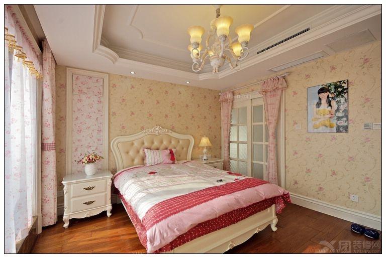 老房美式风格卧室_金汤湾海水温泉度假地装修效果图-x