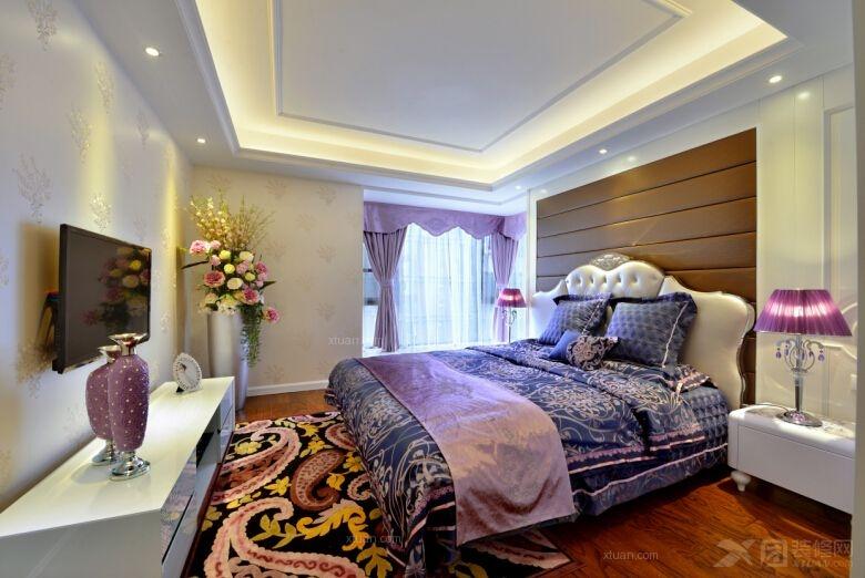 四居室混搭风格卧室_160平大气现代欧式图片
