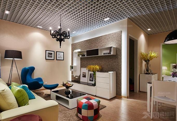 户型:小户型 房间:客厅 风格:美式风格 装修类型:家装 装修方式:半包