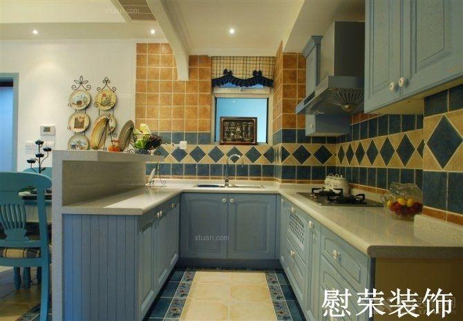 卫厨房手绘色彩效果图