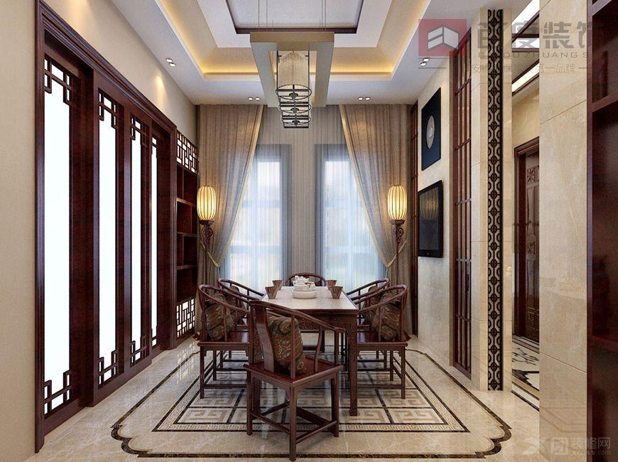 别墅中式风格餐厅_托莱多别墅图片