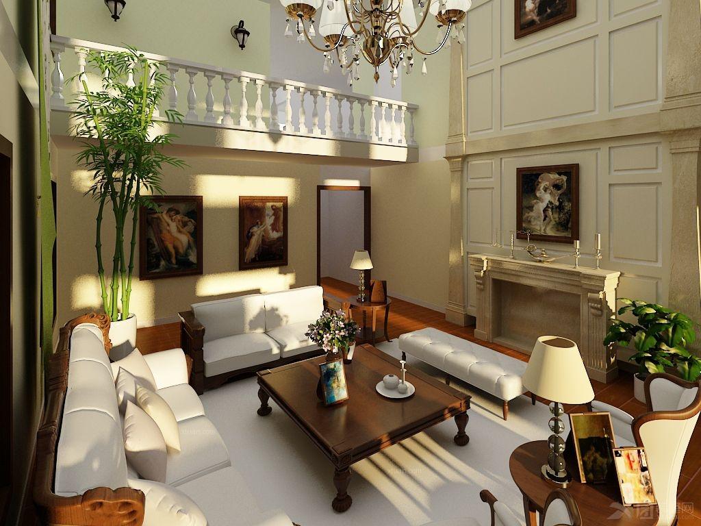 紫鹏山别墅17#简单欧式风格装修效果图图片