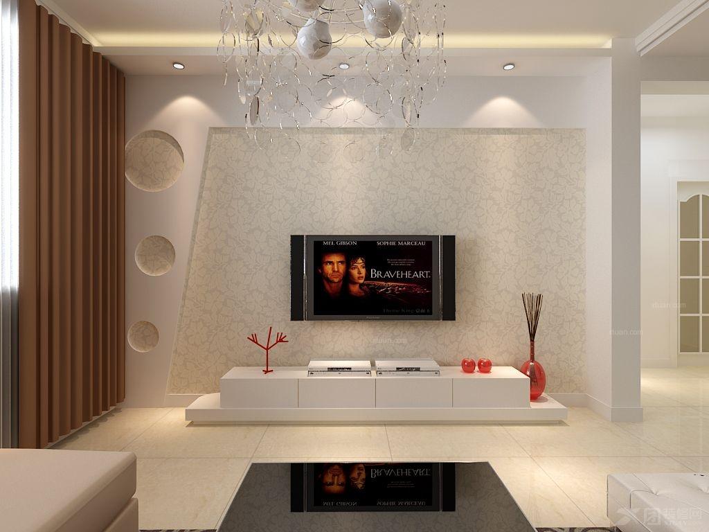 石膏板电视墙效果图