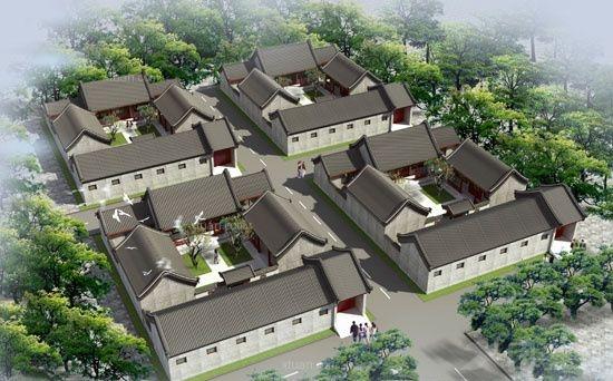 四合院别墅设计中式风格装修效果图