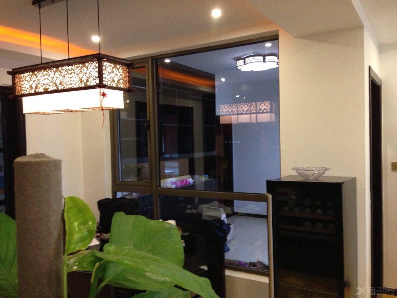 三室两厅中式风格餐厅_桃花岛130平户型装修效果图