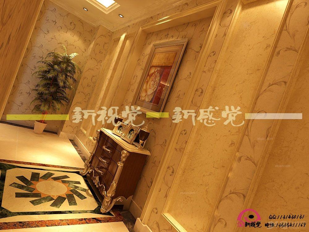 玄关装修效果图 彩色艺术玻璃蒂凡尼复古鹦鹉阳台