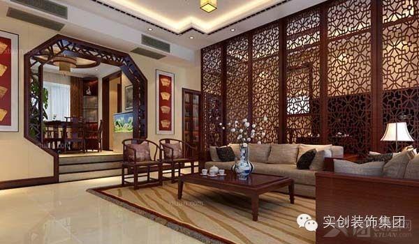中式镂空演绎古典生活300平别墅装修效果图