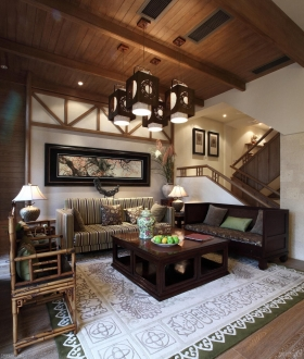 中式风格中式风格别墅装修效果图