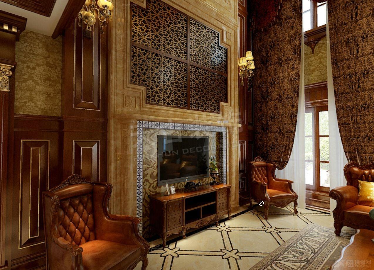 中式别墅客厅设计装修效果图 客厅设计装修效果图 客厅设计装修效果图