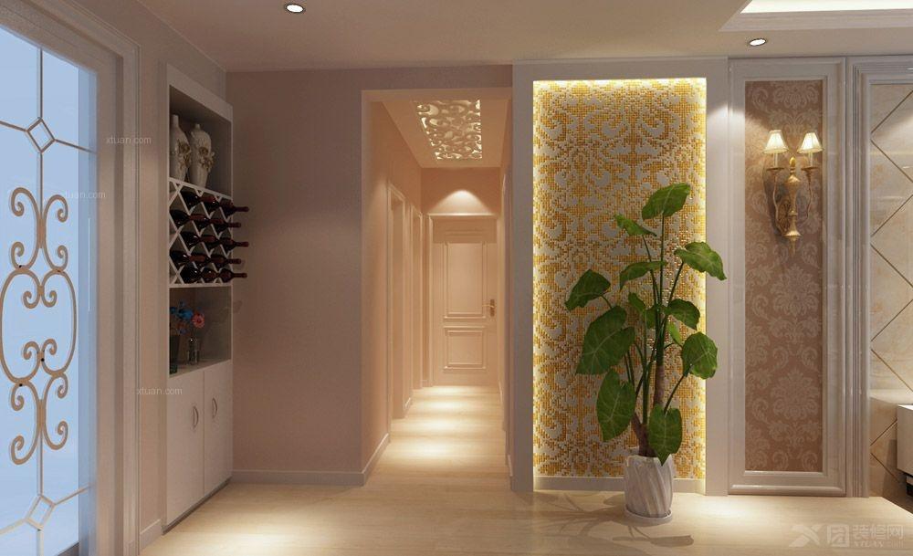 欧式瓷砖背景墙 现代玄关背景墙 艺术拼图瓷砖 瓷砖艺术壁画装  户型