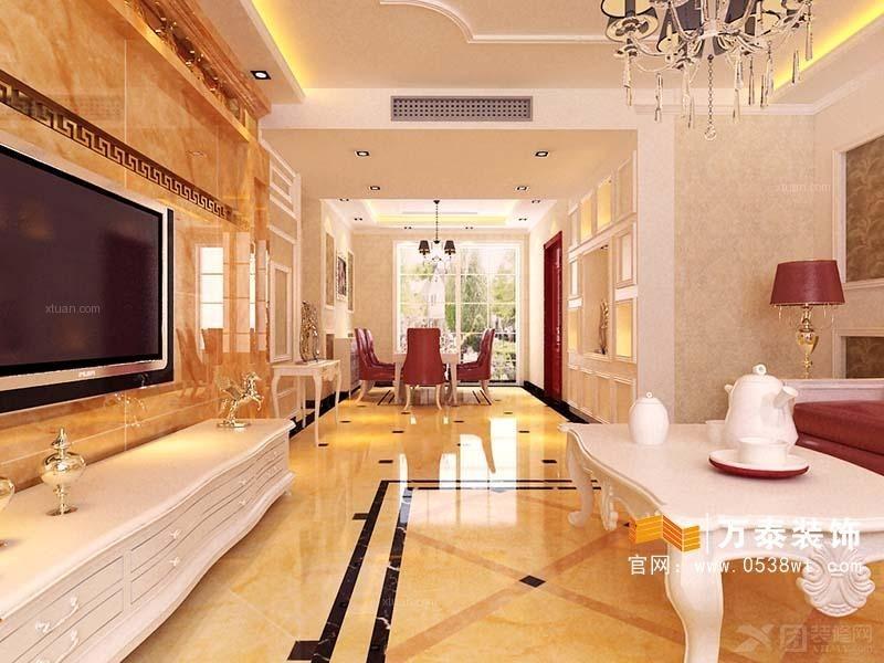 在大理石和瓷砖的选择上业主都要求采用金色调为主的图片