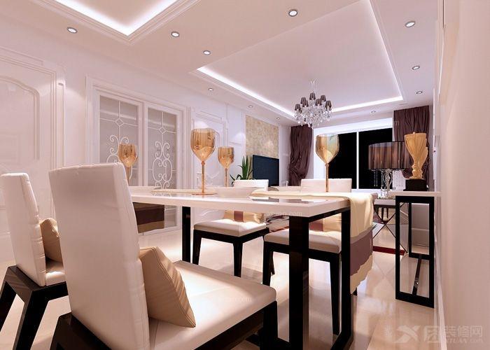 两居室现代简约餐厅_【沈阳林凤装饰】阳光一百二期米娅公馆88㎡