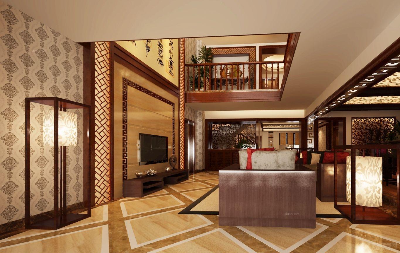 复式楼中式风格客厅_惠安聚龙小镇图片