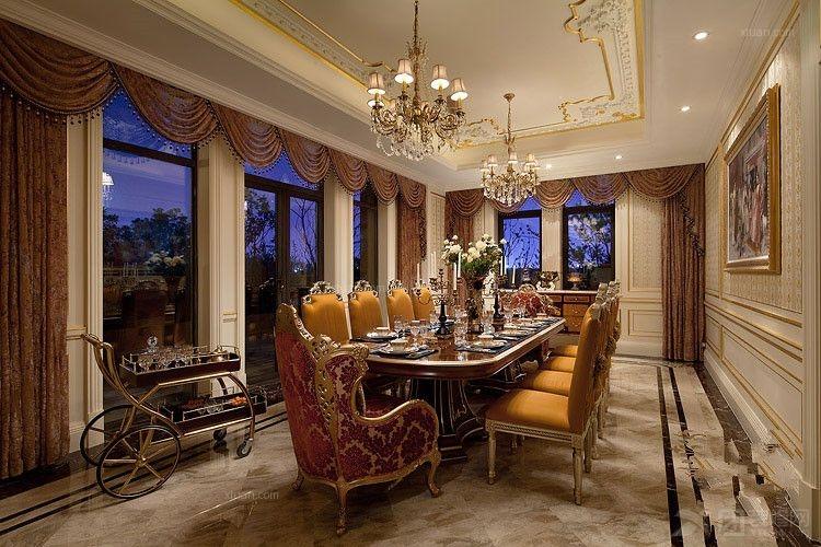 别墅法式风格餐厅_法式风格图片