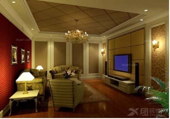 电视背景墙软包,正方形电视背景墙软包装修效果图图片