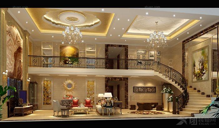 客厅影视墙_中堂自建房图片