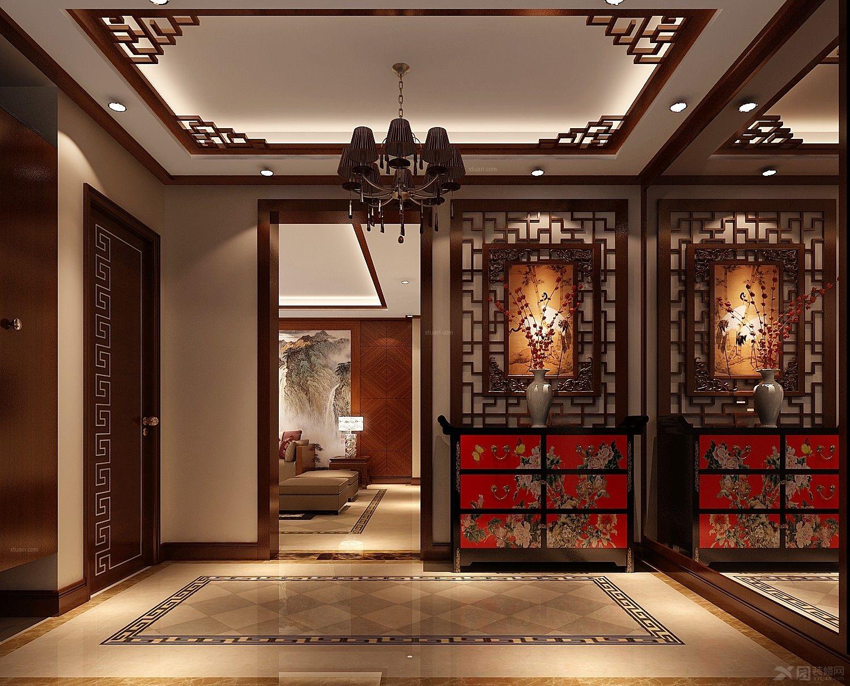 三室两厅中式风格过道_孔雀庄园中式装修效果图-x团图片