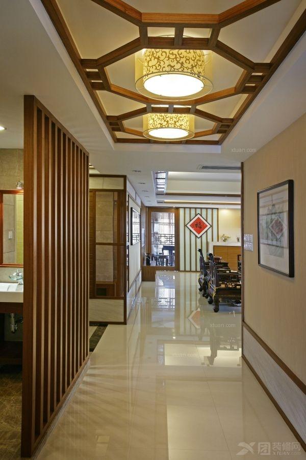 四居室中式风格玄关墙绘图片