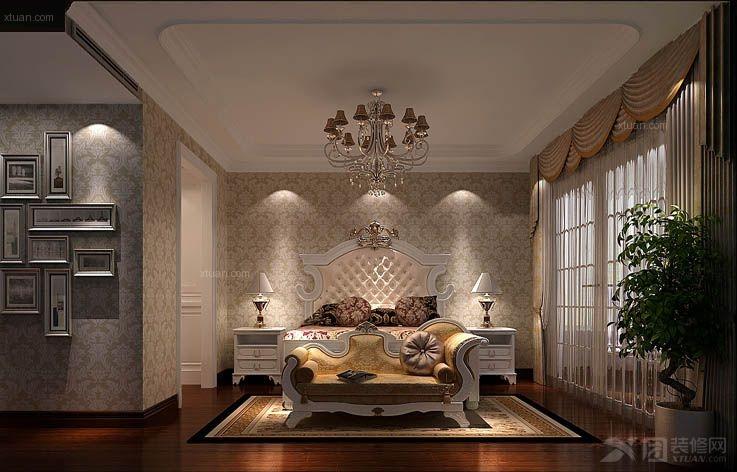 四居室简欧风格主卧室