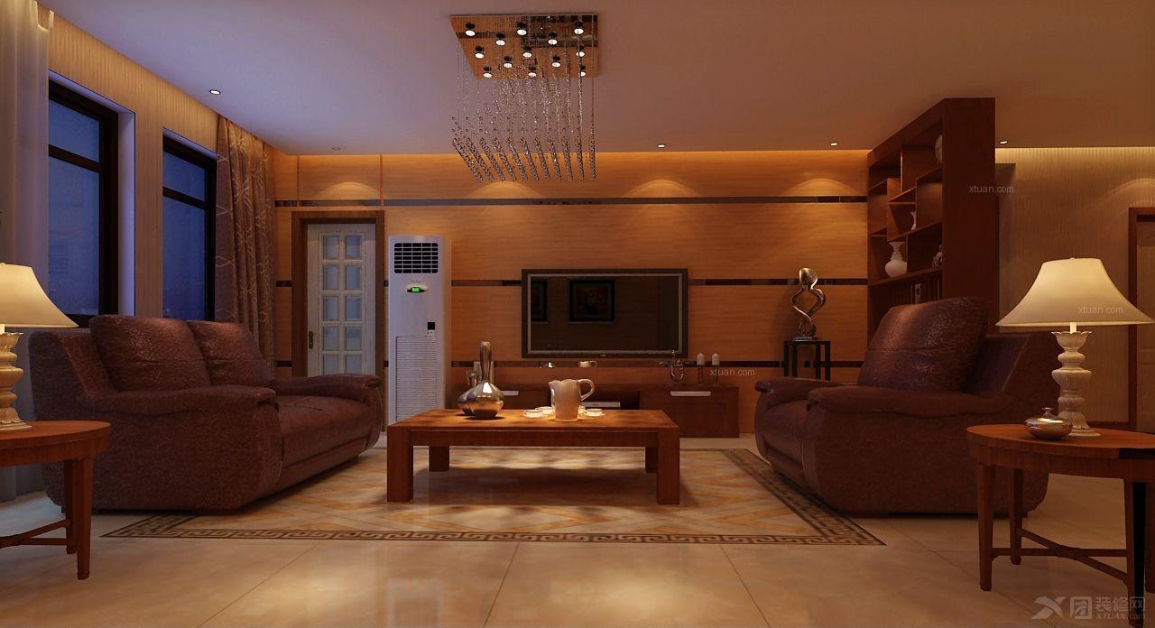 大户型现代风格客厅沙发背景墙_世纪东城-model