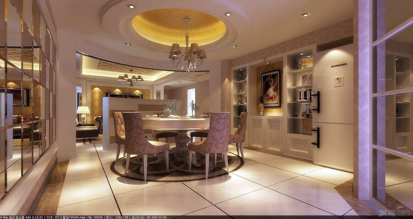 大户型欧式风格餐厅圆形吊顶