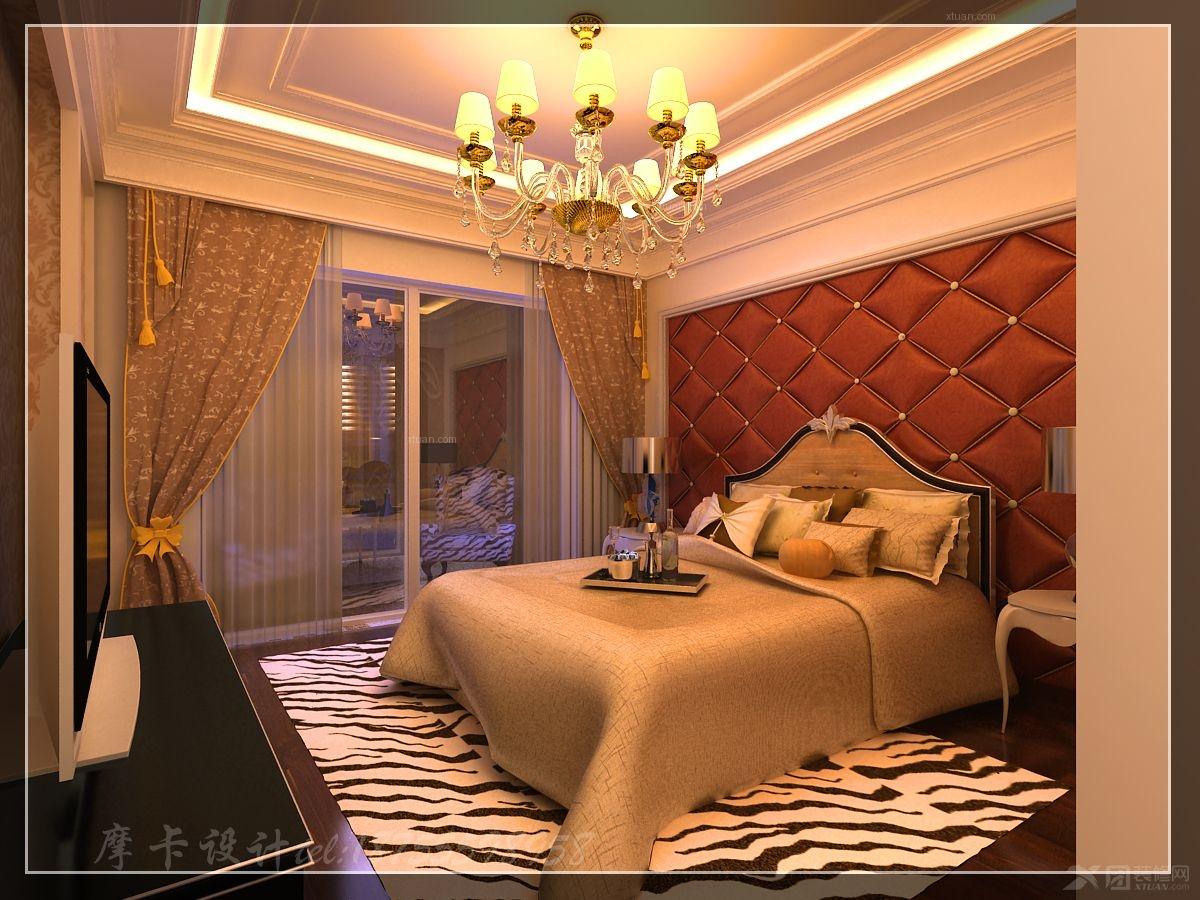 主卧室图装修效果图  户型:三居室 房间:主卧室 风格:欧式风格 装修图片