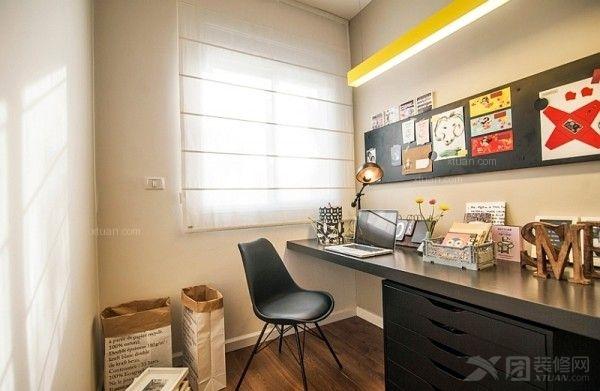 两居室北欧风格书房_宏发·石榴装修效果图-x团装修网图片