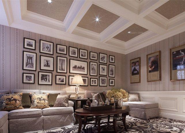 大户型现代风格客厅_合生江湾国际公寓
