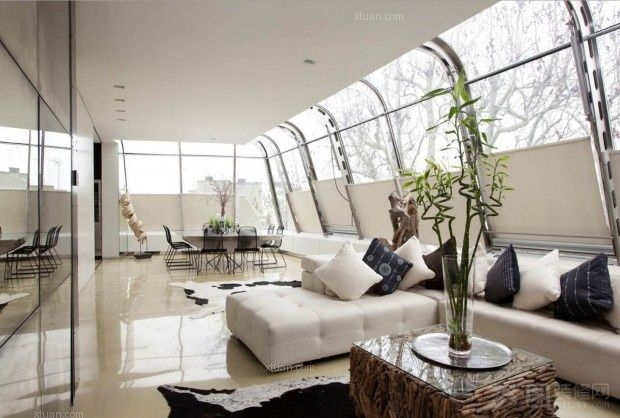 原生态朴质的复式楼客厅装修效果图 套间客厅装修效果图  户型:小户型图片