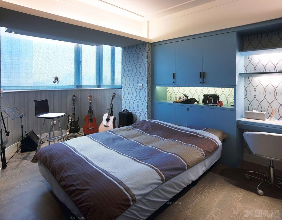 户型现代美式卧室装修效果图 中式卧室装修效果图 套房卧室装修效果图图片