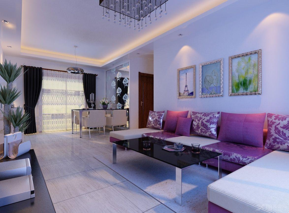三居室古典风格客厅沙发背景墙_中海原山