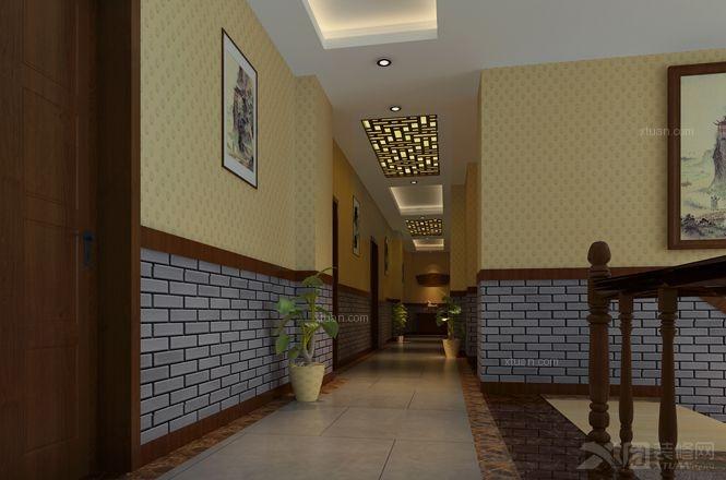 中式风格餐馆_新中式风格餐厅案例装修效果图-x团装修