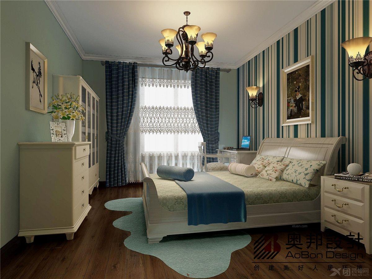 现代简约卧室卧室背景墙