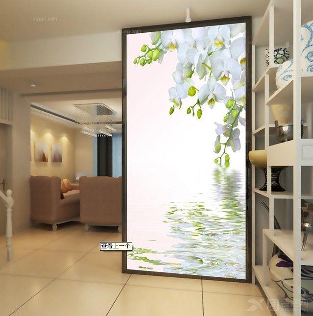 三居室时尚风格玄关_瓷砖彩雕电视背景墙