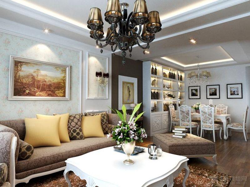 大厅沙发背景墙石膏沙发背景墙图片2