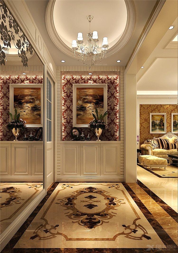 三室两厅欧式风格玄关_鲁能七号院图片
