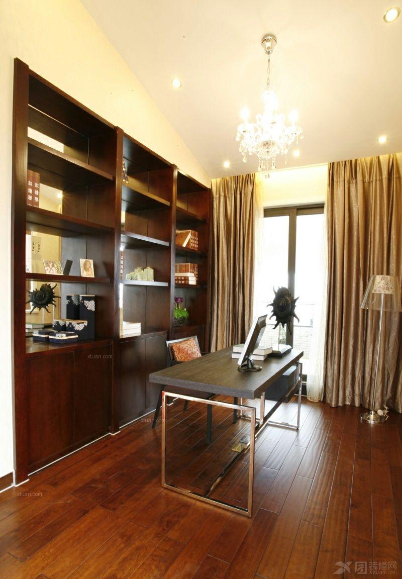 户型:两室两厅 房间:书房 风格:中式风格 装修类型:家装 装修方式图片