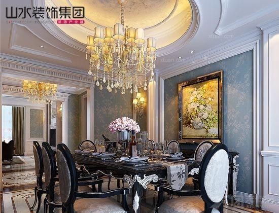 别墅欧式风格餐厅_乔治庄园--别墅中的空中叠墅图片