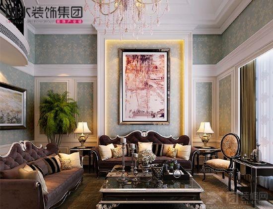 客厅欧式庄园别墅_乔治风格--别墅中的空中叠墅海伦别墅房价春天图片
