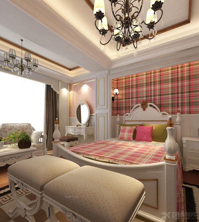 儿童房别墅卧室背景墙 设计理念:本案是一户贵气的花园别墅,在和男