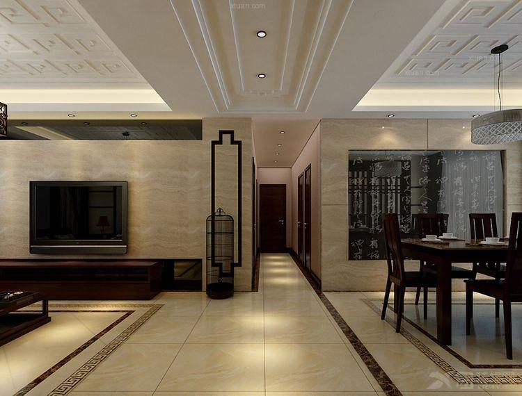 客厅卧室灯装修效果图  户型:四居室 房间:过道 风格:中式风格 装修图片