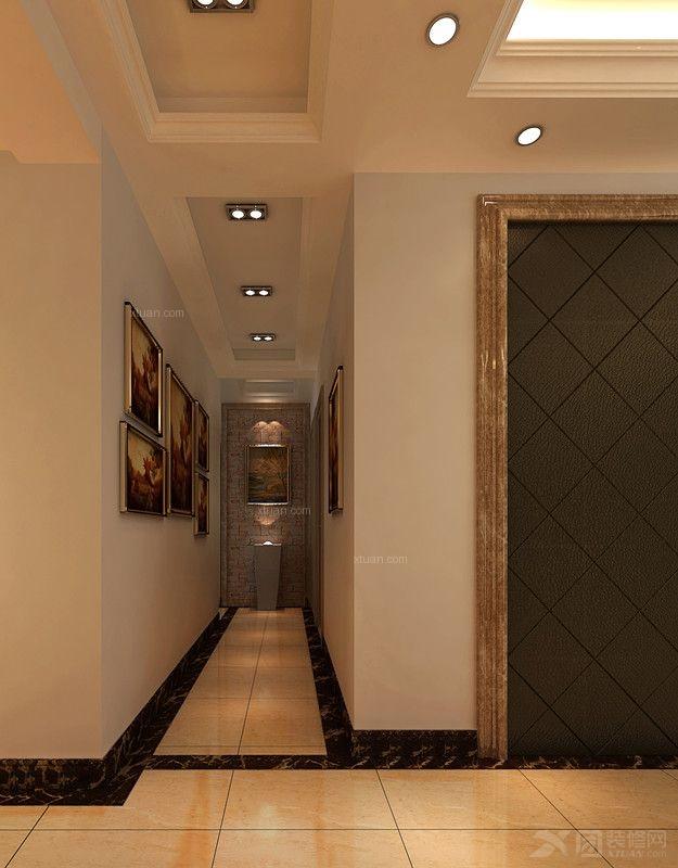 玄关装修效果图 彩色艺术玻璃蒂凡尼复古鹦鹉阳台吊灯 过道玄关走廊图片