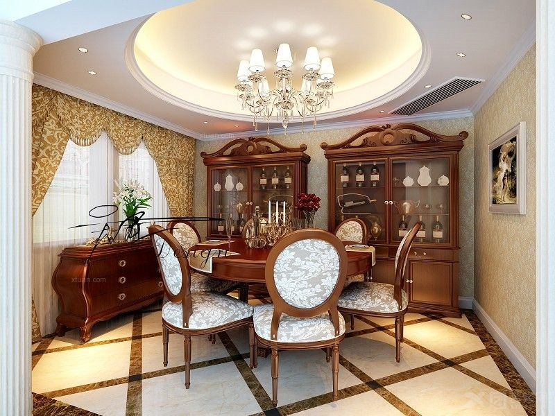 上海华山路餐厅装修效果图  户型:别墅 房间:餐厅 风格:欧式风格 装修
