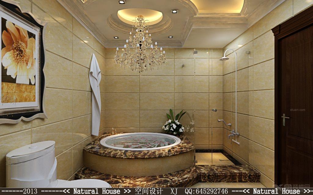 简欧风格装仹�b9��9f_复式楼简欧风格浴室_东锋装饰
