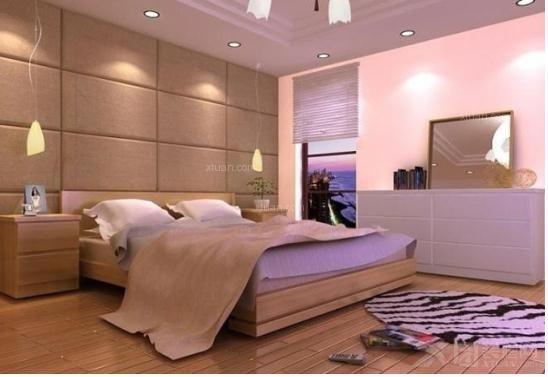 三居室欧式风格卧室沙发背景墙_电视背景墙软包,正方形电视背景墙软包图片