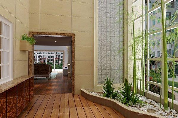 别墅现代风格花园_东安御花园复式楼